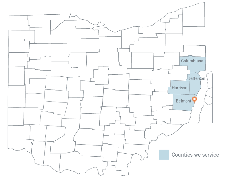 Steubenville County Map